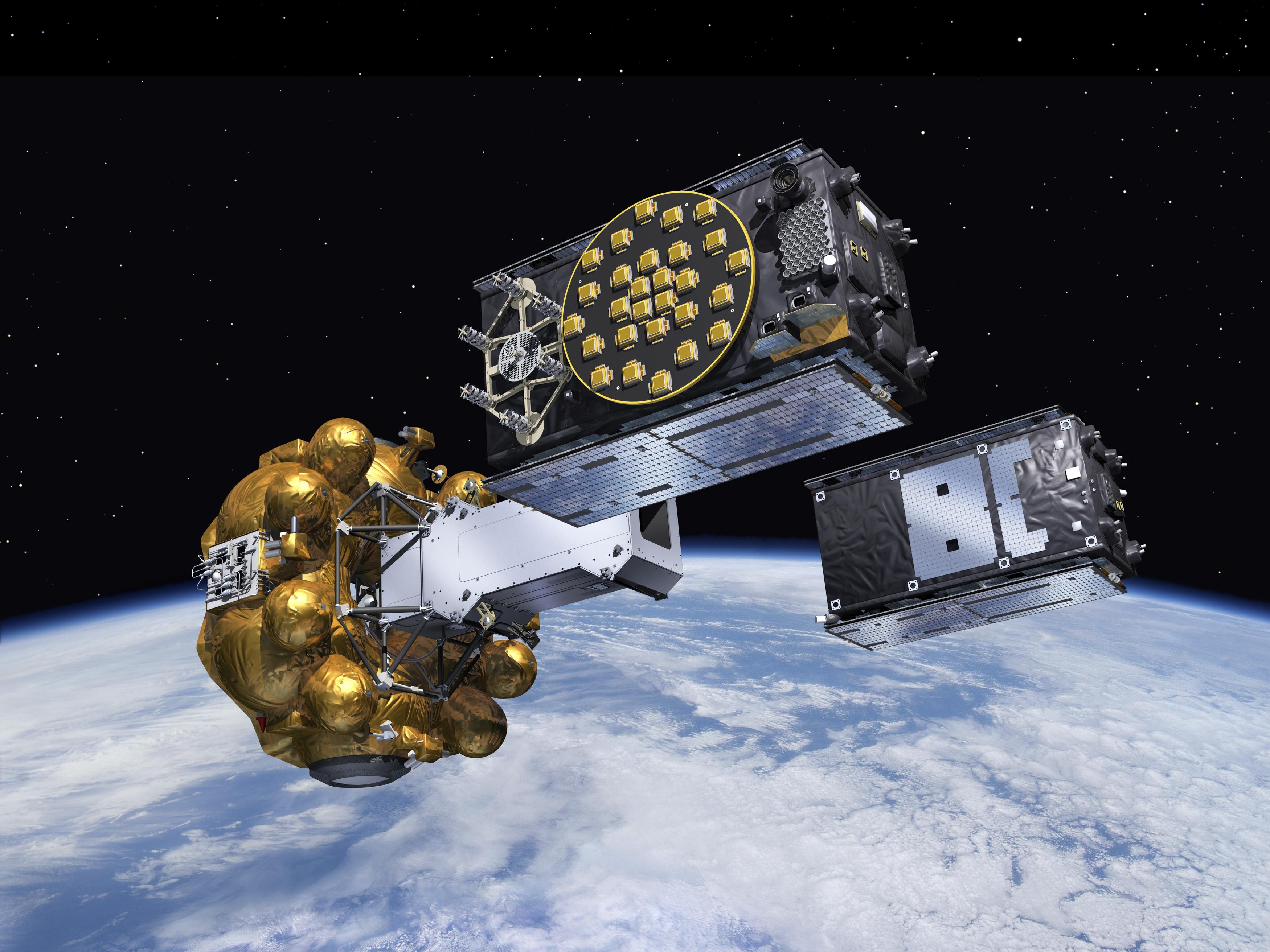 Artist's view of Galileo Sat 5&6